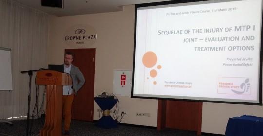 Dr Krzysztof Bryłka wykładowcą na IV Międzynarodowej Konferencji Chirurgii Stopy